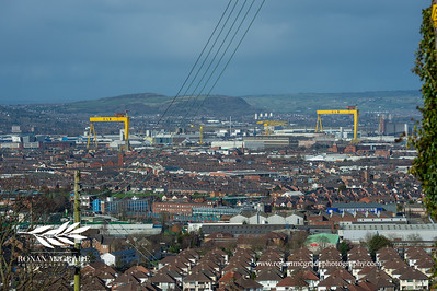 The Harland and Wolfe cranes at Belfast docks.  Picture: Ronan McGrade/Pacemaker Press