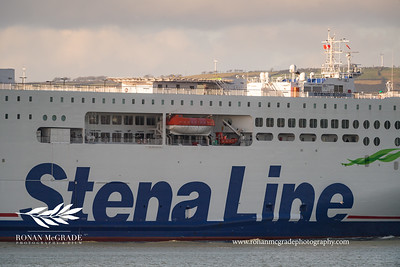 A Stena Line ship sails into Belfast Harbour.  Picture: Ronan McGrade