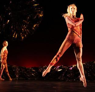 Photo by John McCauley Dance: Le Sacre du Printemps Dancers: Alicia Curtis (r), Michelle de Fremery (l)