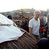 Jan Egeland in a displacement site in Tanganyika. The majority of the province of Tanganyika is inhabited by the Bantu and Twa tribes. The Bantu represents the majority of the population. The Twa are the minority and nomadic. Tension have been mounting for several years between the two tribes. Over 600 000 people have fled their homes due to intercommunall violence in the province. Due to massive displacement, people haven been forced to flee and live in spontaneous settlements. Photo credit: Alex McBride/Norwegian Refugee Council