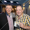 Bernie Kane, presenter of 'Ocean Country' on Ocean FM, who was compere for the night, with Anthony McBrien
