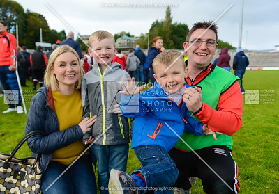 Belnaleck manager Colm Bradley celebrates with his family.  Picture: Ronan McGrade