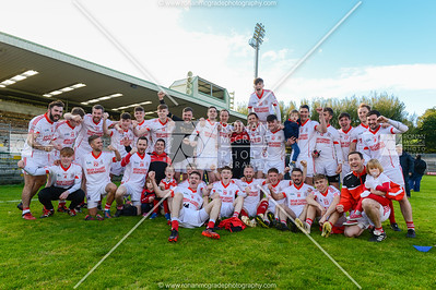 The Belnaleck team celebrate their win at Brewster Park.  Picture: Ronan McGrade