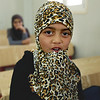"Shayma, 10 years old girl during the Arabic class at the NRC Education Centre in Azraq Refugee Camp in Jordan. ""My favourite subject is Arabic, because I learnt how to read and started to read everything falls into my hands"" Shayma said. Photo: Hussein Amri/NRC"