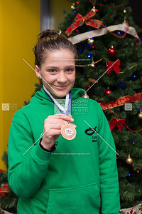 Caitlin Martin with her medal that was won recently.