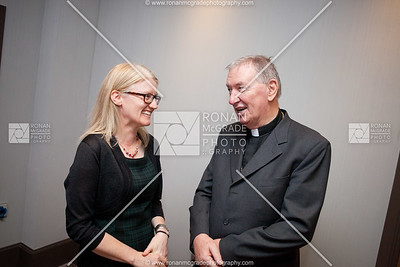Nora Bermingham chats to Bishop Duffy (Chairman of CHS) at the beginning of the event.