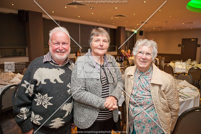 Warren & Barbara Wimble from Australia with Bridie Rooney from the Clogher Historical Society