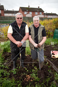 Michael & Gerry Tummon take a break after harvesting their potatoes.