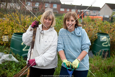 Eileen O'Dee and Mary Slevin putting their plot to bed.