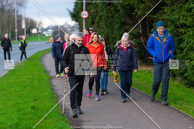 Dylan Quinn and his supporters leave Enniskillen as they start the walk to Stormont.  Picture: Ronan McGrade