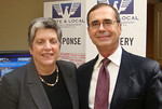 Marty Pastula, VP, Emergency Management and Janet Napolitano, Secretary, Homeland Security at NEMA