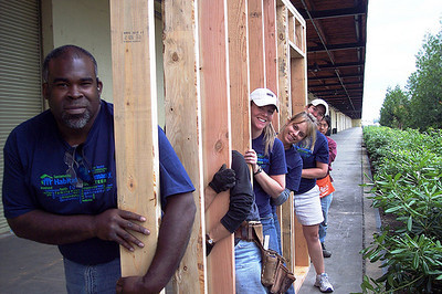 e.Republic staff helping to build a home for Habitat for Humanity