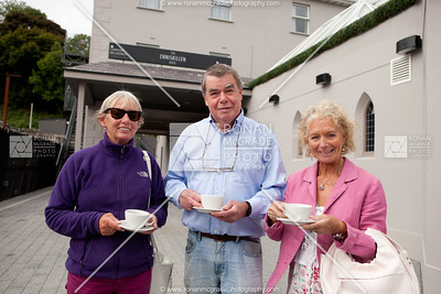 Brigid & Dean Chapman with Carmel O'Reilly enjoy a cup of tea at The Enniskillen Hotel.