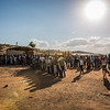 Refugees are seen waiting in front of the Norwegian Refugee Council's office.<br /> <br /> Um Rakuba refugee camp on 3 December 2020. The camp is located 70 kilometers from the Ethiopian border inside eastern Sudan. It currently hosts some 10,000 Ethiopia refugees, who have fled fighting in Ethiopia's Tigray region over the past month. Jan Egeland, Secretary General of the Norwegian Refugee Council (NRC), was on the ground in the camp speaking with families who had fled the violence. NRC has set up emergency schooling for children displaced by the violence. Already a school for 700 children is up and running after five days operating in the camp.<br /> <br /> Copyright: Ingebjørg Kårstad / Norwegian Refugee Council
