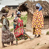 Women in Mpati village. Many people in the Mpati area have been displaced from other sites in North Kivu.<br /> <br /> In the Mpati area in North Kivu province, NRC is implementing a multi-sector assistance programme funded by the European Commission (ECHO). The programme aims to improve lives for displaced populations and the most vulnerable host families by offering education, food security and legal assistance. The two ongoing ECHO funded programmes in North and South Kivu provinces, implemented by NRC, are reaching a total of 174. 675 people (25.596 households).<br /> <br /> Photo credit: Christian Jepsen/NRC. March 2017