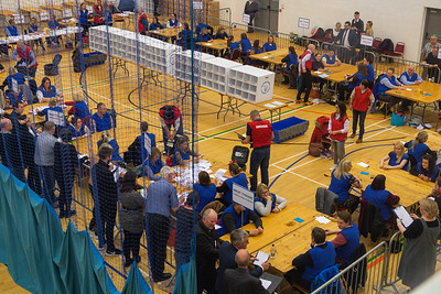 Counting gets underway at the Omagh Leisure Complex Count Centre.  Picture: Ronan McGrade/Pacemaker Press