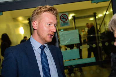 Daniel McCrossan, SDLP candidate for West Tyrone, at the count centre in Omagh.  Picture: Ronan McGrade/Pacemaker Press