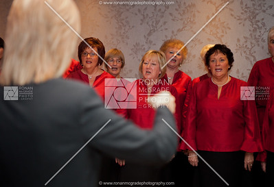 The visiting choir perform at the event for Horizon West.