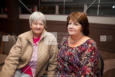 Gladys Latimer & Marti Woods enjoyed the choir.
