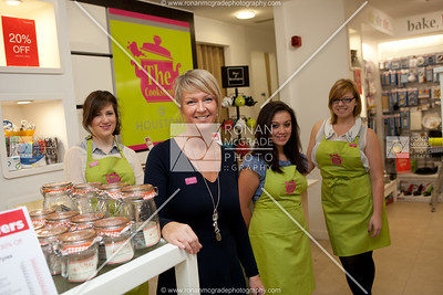 Shira Barton, Carolyn Johnston, Ro Burns & Zoe Hicks at the launch of the Cookshop at Houstons, Enniskillen.