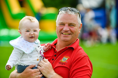 James Murphy and his granddaughter Isla enjoying the day at the Jamie Murphy Memorial Cup at the Ball Range.  Photo by Ronan McGrade.