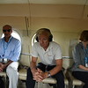 Jan Egeland travelling from Juba to Mayom with WFP. To the left is Adil Khan, CD for WFP in South Sudan.