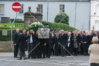 A large crowd gathered to mourn the late John Connelly at St Macartin's Cathedral, Enniskillen.