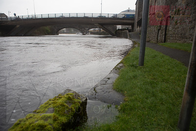High water levels caused flooding in the Broadmeadow area of Enniskillen.