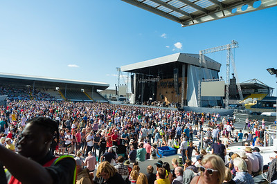 Neil Young and his band Promise of the Real co-headlined Nowlan Park in Kilkenny with Bob Dylan.  Picture: Ronan McGrade/Pacemaker Press