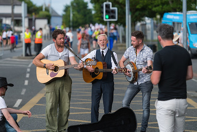 There were plenty of Bob Dylan tributes on the streets of Kilkenny ahead of the concert at Nowlan Park.  Picture: Ronan McGrade/Pacemaker Press