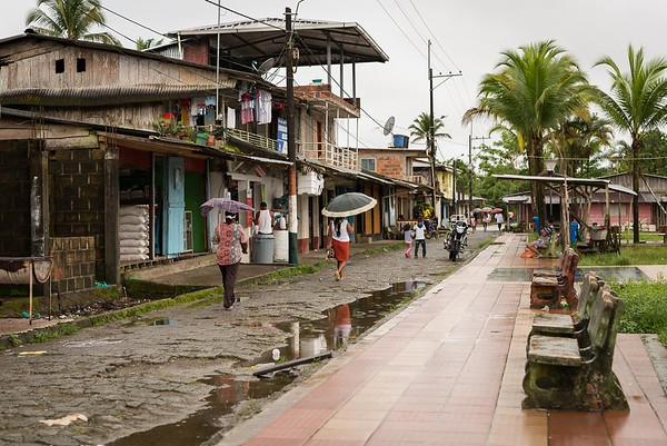 The village where Jhoana, Leidy Tatiana and Nilson are displaced. The village is situated along one of many rivers in the region of Chocó, Colombia.<br /> <br /> Photo: Beate Simarud/NRC