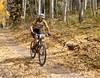 Wade Rosko (Summit) JV racer descends through aspen. Photo Carrie Dittmer.