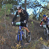 Barney Treadway (Estes Park-563) and Jason Friedman (Boulder-507) navigate the single track. Photo Paul Magnuson.