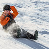 Photo by Greg Eans, Messenger-Inquirer.com | geans@messenger-inquirer.com<br /> <br /> Sha-Lea Haverstick, 15, slides down a hill on a snowboard while enjoying a snow day from school on Thursday, Jan. 18, 2018, at Chatauqua Park in Owensboro, Ky.