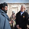Jan Egeland talking to displaced people in Uruzgan