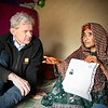 Jan Egeland with Jawala in Kandahar
