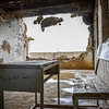 Damaged class room in Kandahar