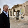Jan Egeland in front of Assad Souri secondary school in Kandahar