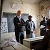 Jan Egeland talking to students in Kandahar