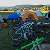 Many racers camped at the Brush Creek town park. Photo Leslie Farnsworth-Lee.