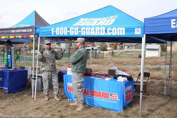 The Colorado National Guard provided information to interested students-athletes. Photo Leslie Farnsworth-Lee.