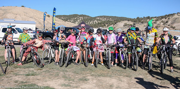 Riders from Animas and Durango dressed up for the season finale pre-ride on Saturday. Photo Leslie Farnsworth-Lee.