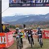 JV girls battle to the finish. Natalie Tanner (153) Buena Vista, Clare Hamilton (130) Fountain Valley, and Tighe Jones (127) 7220 Racing Laramie. Photo Leslie Farnsworth-Lee.