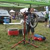 Steamboat Coach Scott Myller makes sure bikes are race ready. Photo Leslie Farnsworth-Lee.