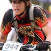 Tye Sandoval, Durango Freshman D2, focuses on his competitors and trail ahead. Photo Leslie Farnsworth-Lee.