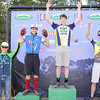 JV D2 boys podium ceremony for Snow Mountain Ranch, race 1, at Leadville. Jonah Howe, Grand Valley,1st; Kai Sherman, Crested Butte, 2nd; Eric Pipkin, Grand Valley 3rd; Jack Ellmer, Fort Colllins 4th. Photo Leslie Farnsworth Lee.