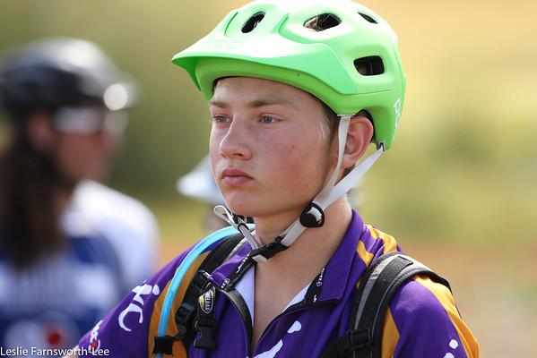 Fort Collins racer focuses in staging. Photo credit Leslie Farnsworth-Lee.