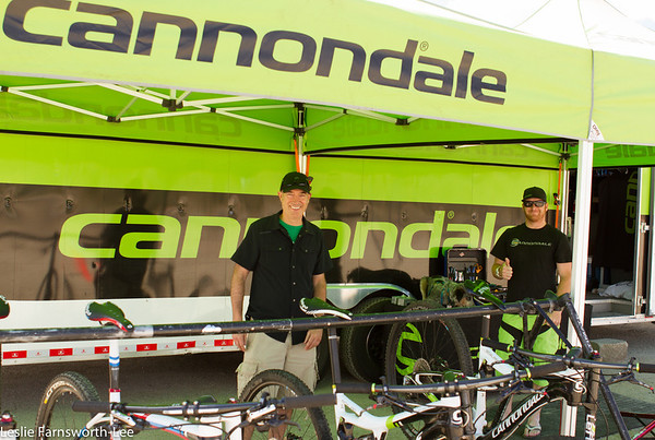Cannoondale provided demo bikes and a popular power washing station on Saturday. Photo credit Leslie Farnsworth-Lee.