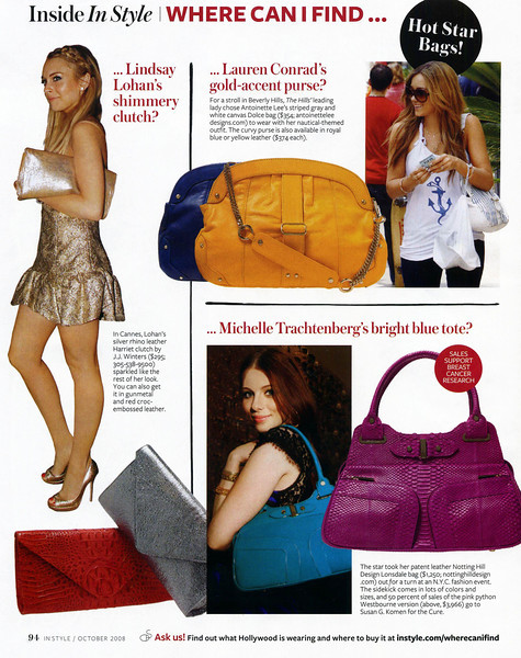 IN STYLE MAGAZINE OCT. 2008