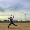 Photo by Greg Eans, Messenger-Inquirer.com | geans@messenger-inquirer.com<br /> <br /> Apollo High School pitcher Payton Blades warms up before the 3rd Region championship softball game on June 4, 2018. The senior righthander threw her second consecutive perfect game to drive past Grayson County 7-0.